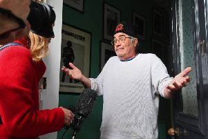 Danny Baker speaking at his London home after he was fired by BBC Radio 5 Live (Picture: Victoria Jones/PA Wire)