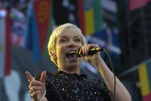 David A Stewart is best known for Eurythmics, his partnership with Scots-born singer Annie Lennox, pictured. Picture: Cate Gillon