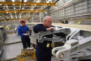 Airbus employees in Wales. The UK enjoyed accelerated economic growth in the first quarter of 2019. (Picture: Getty)
