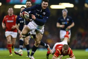 Scotland centre Duncan Taylor has only just resumed training after a long injury lay-off. Picture: Michael Steele/Getty Images