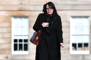 Natalie McGarry arrives at Glasgow Sheriff Court last Friday. The hearing was adjourned until 6 June pending reports. Picture: John Devlin