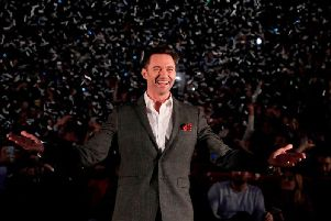 Hugh Jackman was in Glasgow for the Scottish leg of his world tour (Photo: Getty Images)