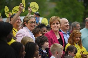 Edinburgh South West MP Joanna Cherry campaigning with Nicola Sturgeon