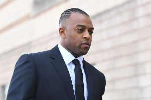 Former JLS star Oritse Williams arrives at Wolverhampton Crown Court where he is due to go on trial charged with raping a woman after a concert. Picture: Joe Giddens/PA Wire