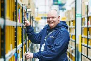 Scot McKeen, who has worked at Amazon in Dunfermline since 2010, qualified as a heavy goods vehicle driver this week. Picture: Fraser Band