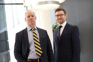 Kevin Murchie (left) and Chris Hunter of Graham + Sibbald. Picture: Stewart Attwood.