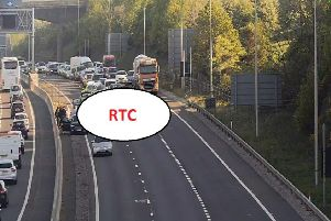 Images from the scene. Picture: Traffic Scotland