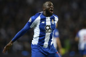 Moussa Marega celebrates a goal for Porto in the Champions League group stages. Picture: Getty Images