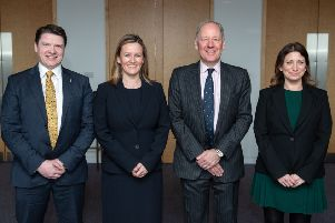 From left: Kenneth Pinkerton, legal director; Gillian Crandles, managing partner; Simon Mackintosh, chairman; and Jenny Younger, legal director of Turcan Connell. Picture: Julie Broadfoot