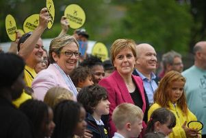 Joanna Cherry campaigning with Nicola Sturgeon