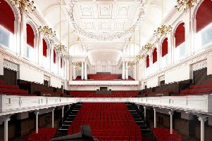 A computer-generated image of Paisley Town Hall's revamped interior. Picture: contributed.