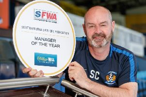 Kilmarnock's Steve Clarke has been voted Manager of the Year by the football writers. Picture: Steve Welsh