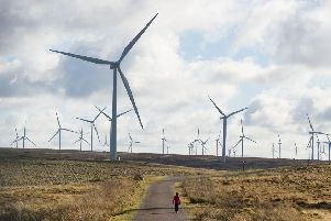 Whitelee Windfarm near Glasgow in Scotland.