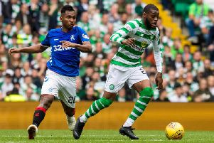Olivier Ntcham in action against Rangers. Picture: SNS
