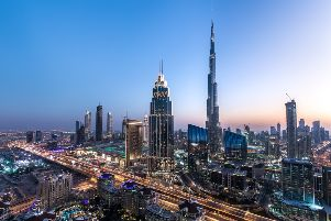 Skyscrapers in downtown Dubai, a city of constant development