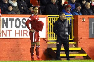 Max Lowe has impressed on loan at Aberdeen this season. Picture: Michael Gillen
