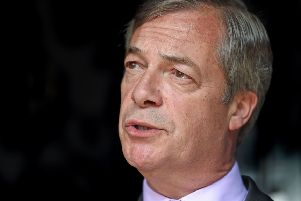 Nigel Farage was speaking in Edinburgh on Friday