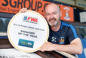 Steve Clarke is the Scottish Football Writers' Association's'manager of the year. Picture: Steve Welsh