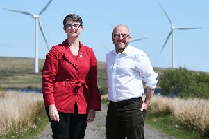 Maggie Chapman, pictured with Patrick Harvie, her fellow co-convener of the Scottish Greens. Picture: John Devlin