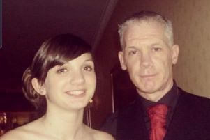 Sara and her late father Derek Wilson, who died aged 47 after suffering from skin cancer. PIC: Contributed.