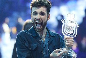 Duncan Laurence of The Netherlands celebrates winning the Eurovision Song Contest. Picture: Getty