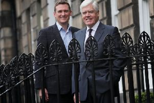 LendingCrowd chief executive Stuart Lunn (left) and chairman Sir Sandy Crombie. Picture: Stewart Attwood