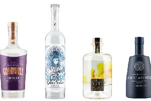 Lidl's Scottish Gin Festival will include the four pictured spirits plus a G&T can from LoneWolf as debutantes. Picture: Contributed