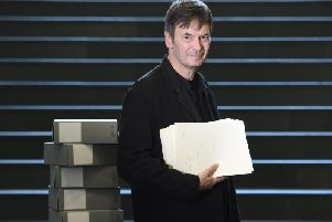 Ian Rankin was at the National Library today to discuss the donation of a vast personal archive dating back to 1972.