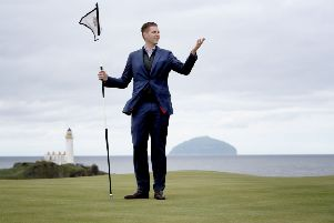 Eric Trump, son of the US president, visited Trump golf courses in Ayrshire and Aberdeenshire. Photograph: PA