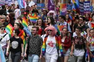 Last year's Pride Glasgow ran into trouble due to overcrowding. Picture: PA