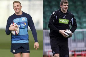 Kyle Steyn, left, and Scott Cummings have grabbed the last two spots in Gregor Townsend's Scotland training squad