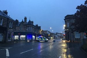 St Clair Street was blocked off near Loughborough Road after a car went throughCocoon Beauty Bar's window.'Picture: Sheona Small