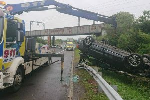 The aftermath of the M8 crash in West Lothian. Pic: Road Policing Scotland