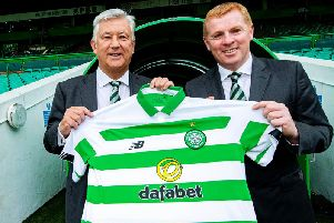 Celtic chief executive Peter Lawwell and manager Neil Lennon.