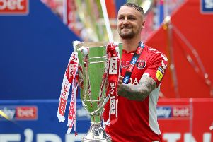 Patrick Bauer scored the winning goal to help Charlton Athletic to promotion.