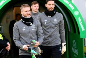 Scott Bain and Craig Gordon both had their share of games for Celtic this season. Picture: SNS