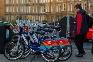 500 bikes are strategically positioned around Edinburgh's Just Eat Cycles network. Picture: TSPL