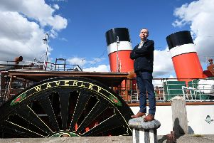 Paul Semple, Waverley Excursions' general manager. Picture: John Devlin.
