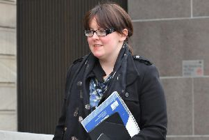 Natalie McGarry outside court.