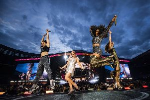 Mel C, Mel B, Emma and Geri rolled back the years with a slick performance, the girl gang seeming spontaneous and genuinely touched by their reception by the loud and enthusiastic crowd. Picture: Andrew Timms