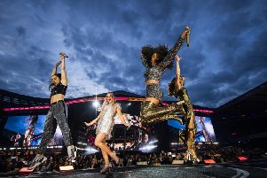 Spice Girls on stage in Edinburgh. PIC: Andrew Timms