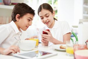 School canteen chefs flagged up emerging pressures caused by the smartphone factor. Picture: Getty