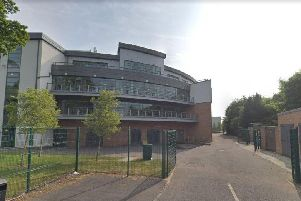 Children at Holy Rood RC High School were evacuated this afternoon. Pic: Google Maps