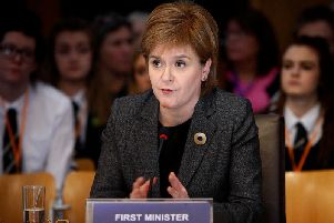 Nicola Sturgeon has hit out at Ruth Davidson