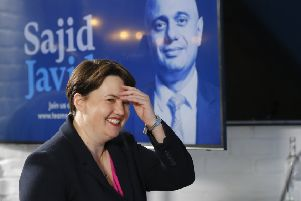 Leader of the Scottish Conservatives, Ruth Davidson, speaks at the launch of home secretary Sajid Javid's Conservative Party leadership campaign in London. Picture: Tolga Akmen/Getty Images
