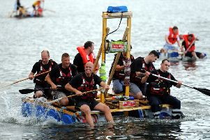 The ever-popular raft race is set to be held on Sunday