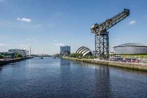 The Clyde is largely bereft of river traffic despite major developmennts such as the SEC. Picture: John Devlin