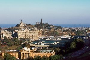 The Balmoral is a landmark on the Edinburgh skyline.