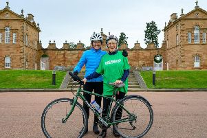 Mavis Paterson, who lives near Stranraer in Dumfries and Galloway, set out on May 30 from Land's End and aims to reach John O'Groats on June 21.