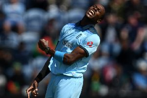 England's Barbados-born fast bowler Jofra Archer will be the headline attraction against West Indies. Picture: Harry Trump/Getty